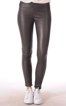 Pantalon Cuir Asteroid Marron1