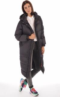 Doudoune longue Alix noire femme