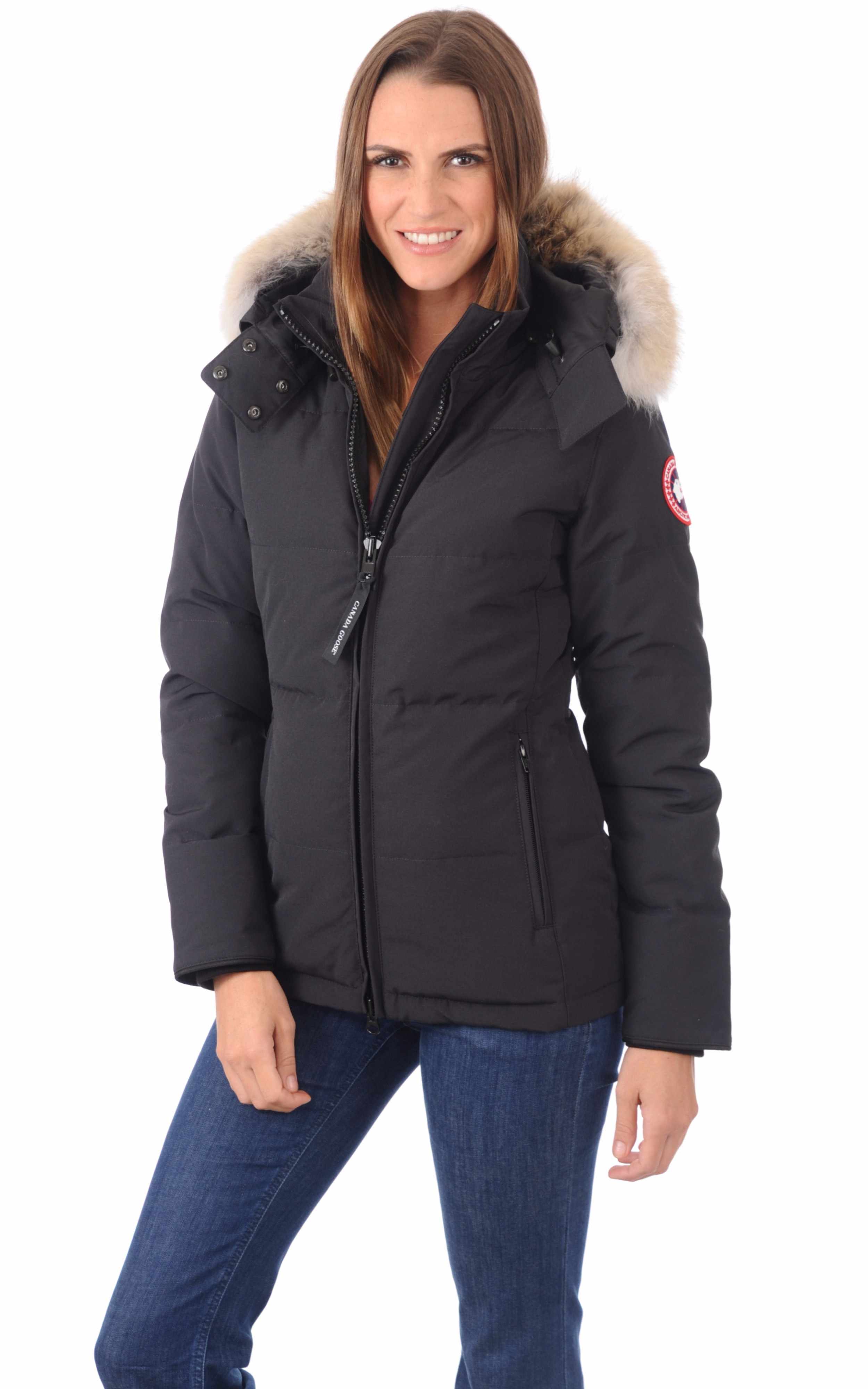 doudoune chelsea navy canada goose la canadienne doudoune parka textile marine. Black Bedroom Furniture Sets. Home Design Ideas