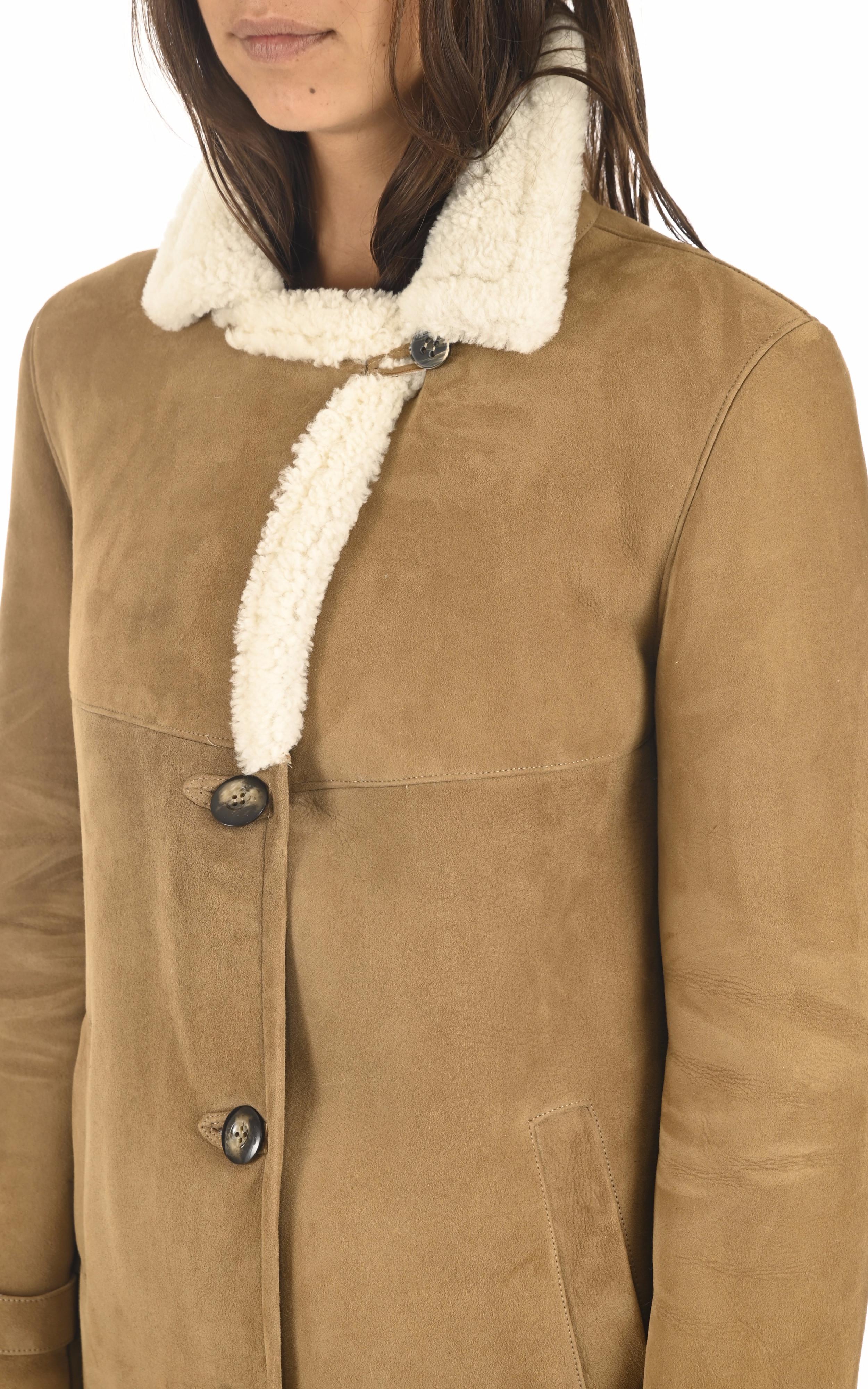 Veste peau lainée camel La Canadienne