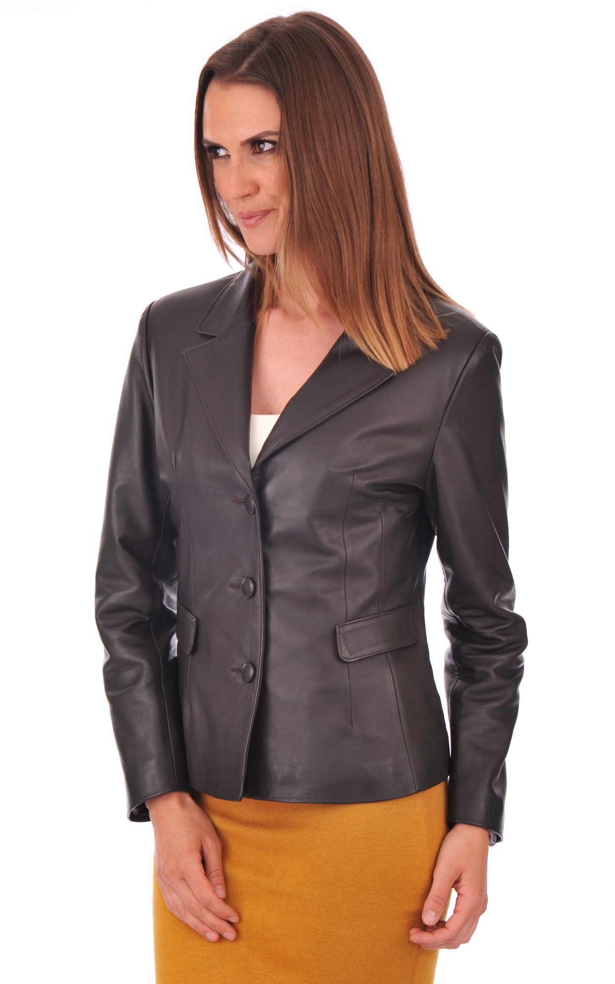 Veste en cuir femme la canadienne