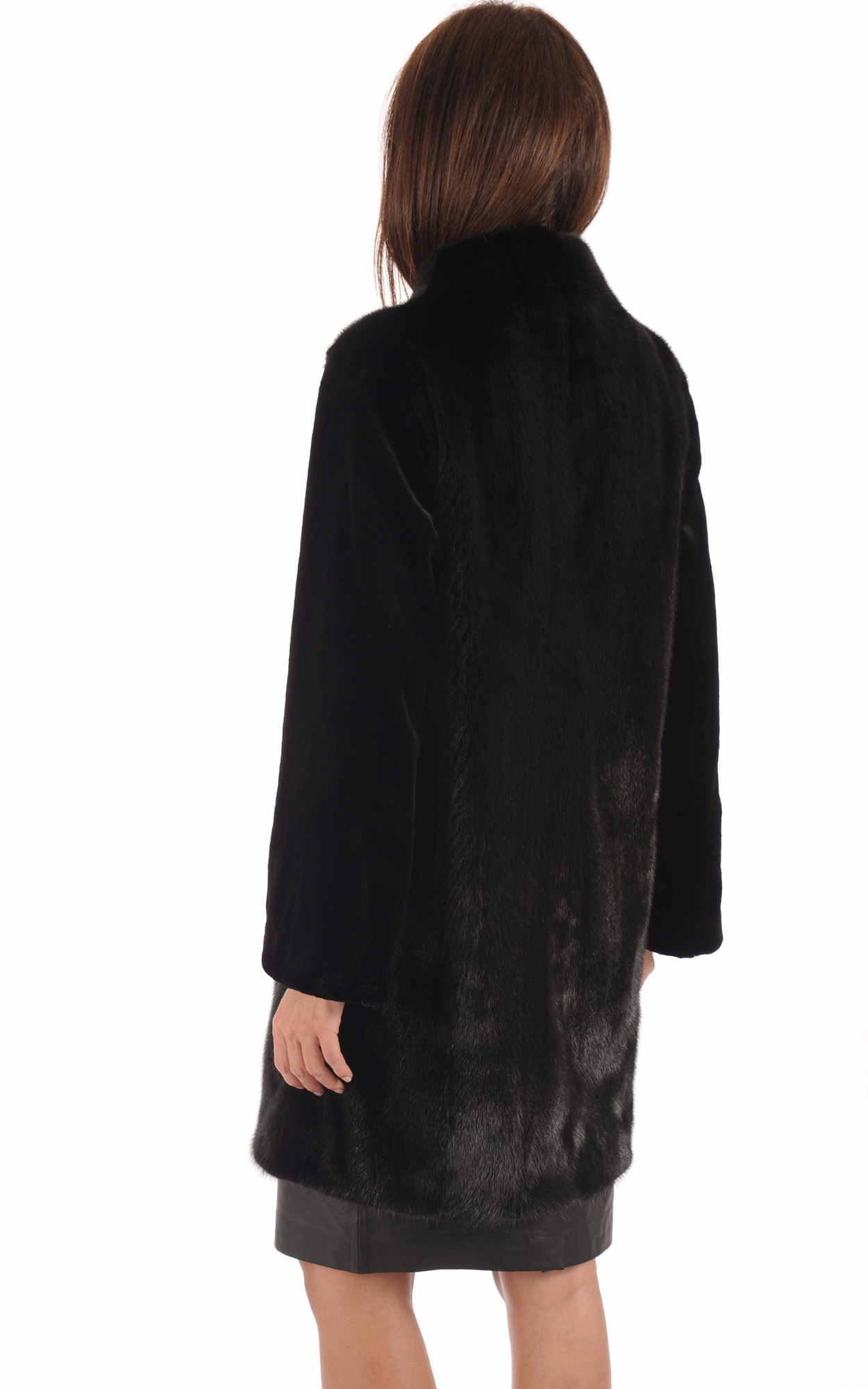 Manteau Chic Vison Noir