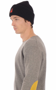 Bonnet en laine bleu marine1