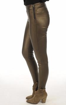 Legging cuir agneau bronze