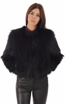 Blouson renard noir femme1