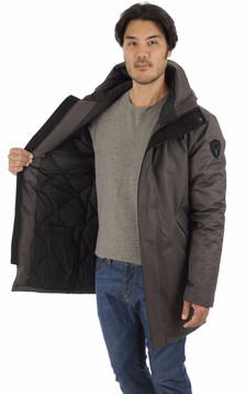 Parka Pierre steel grey