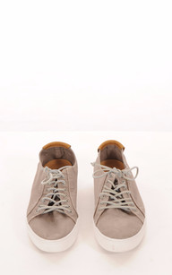 Baskets Toile Taupe Homme1