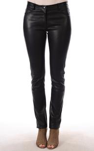 Pantalon Droit Cuir Femme1