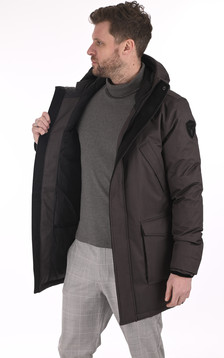 Parka Travis steel grey
