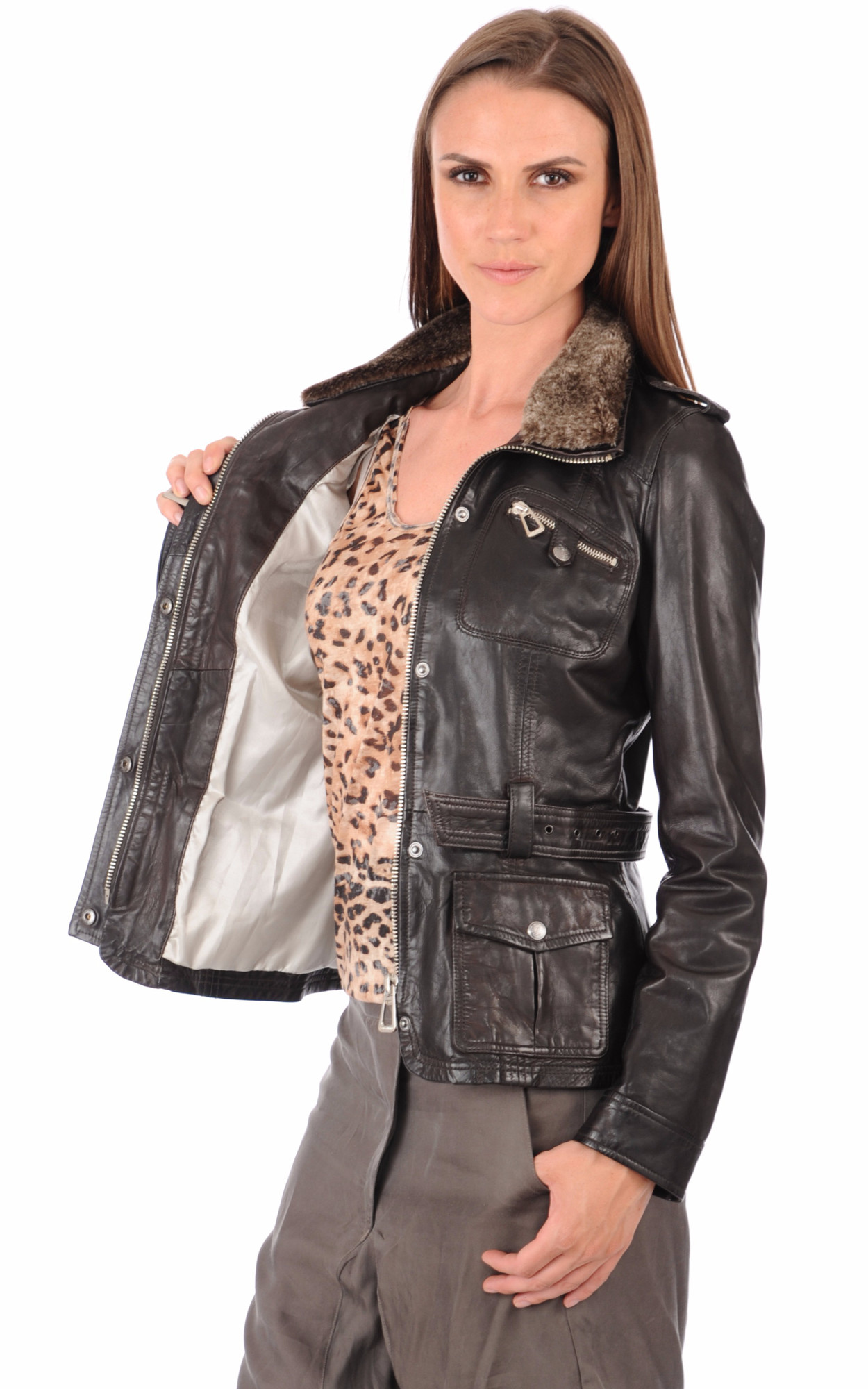 Veste Betty Marron