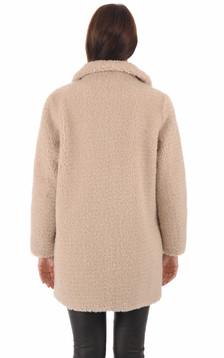 Manteau laine beige femme