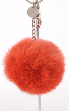 Porte Clef Fourrure de Lapin Orange1