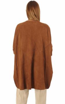 Veste chèvre velours caramel