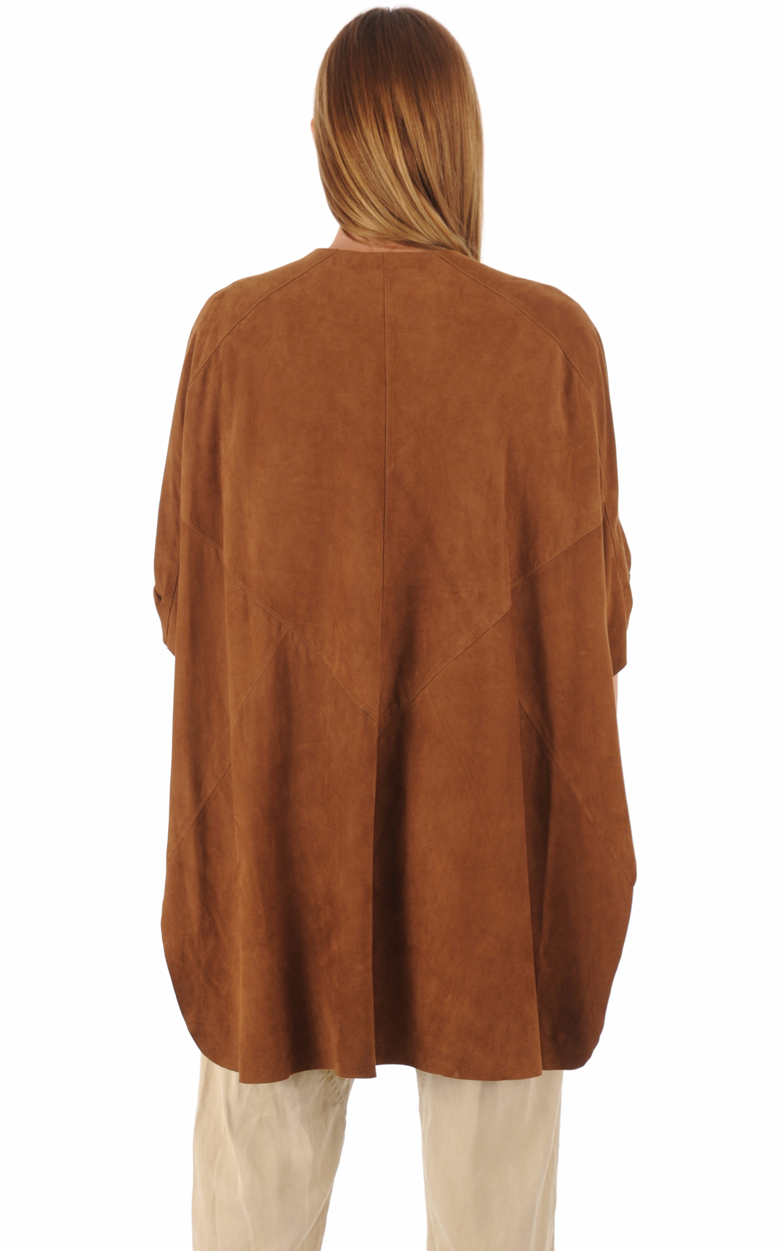 Veste chèvre velours caramel Giorgio