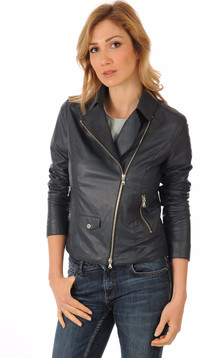 Blouson Cuir Marine Coupe Perf1