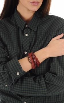 Bracelet Fourrure Vison Bordeaux1