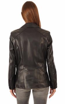 Blazer Cuir Femme Coupe Confort