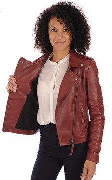 Blouson City Girl rouge