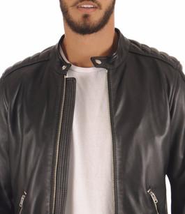 Blouson Motard  Noir Homme Diesel