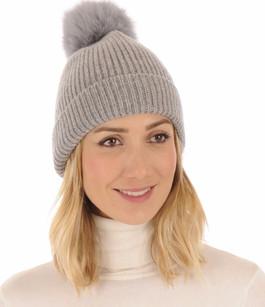 Bonnet en laine gris Lea Clement