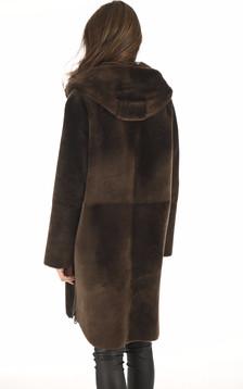 Manteau réversible agneau bronze