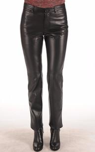 Pantalon Cuir Coupe Droite1