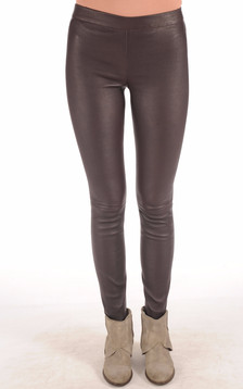 Legging Cuir Stretch Bordeaux1