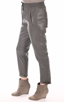Pantalon jogpant cuir kaki