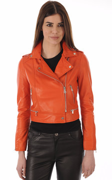 Perf Cuir Orange Yoko Fun1