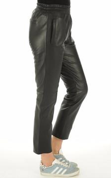 Oakwood - Pantalon Cuir Gifter Noir