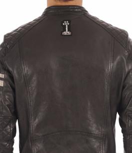Blouson Walker Cuir noir Style Motard Daytona 73