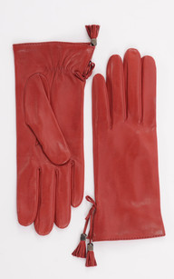 Gants  Fins Cuir Rouge Femme1