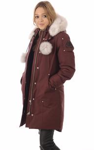 Parka Stirling Femme Bordeaux/Blanc Moose Knuckles