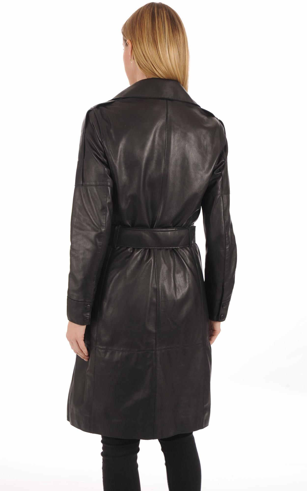Trench Cuir Noir Femme