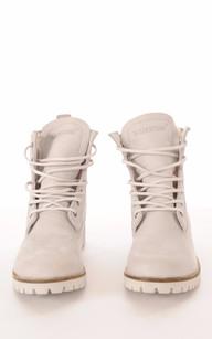 Boots Cuir & Mouton Gris Clair1
