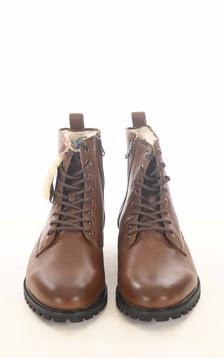 Boots cuir cognac fourrées mouton