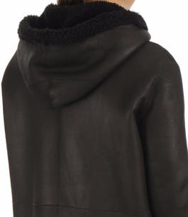 Manteau réversible Eden noir Anne Delaigle