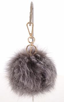 Porte-clé renard gris
