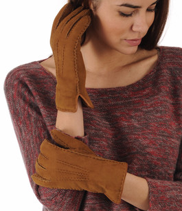 Gants Mouton Velours Caramel La Canadienne