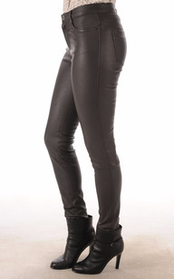 Pantalon Cuir Agneau Stretch Gris