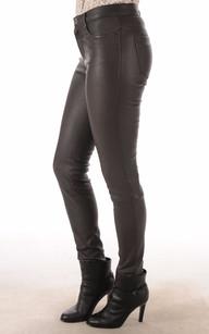 Pantalon Cuir Agneau Stretch Gris Oakwood