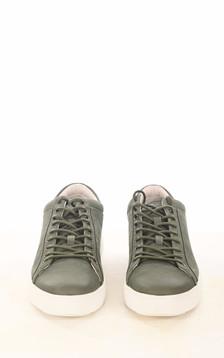 Baskets en cuir kaki
