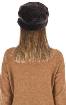 Casquette peau lainée marron