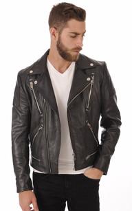 Magasin de veste en cuir homme