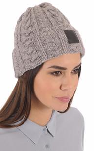 Bonnet Laine gris chiné