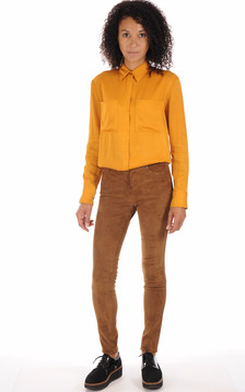 Pantalon Chèvre Stretch Cognac