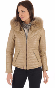 Doudoune Light Cuir Beige1