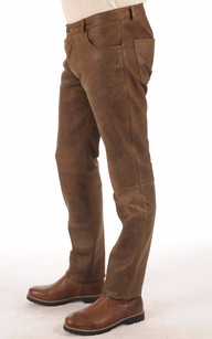 Pantalon Cuir Vielli