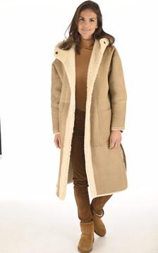 Manteau réversible mérinillo beige