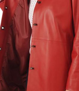 Veste Cuir Rouge La Canadienne